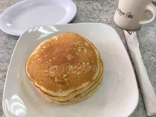 the kracked egg(ザ・クラックド・エッグ)のパンケーキ
