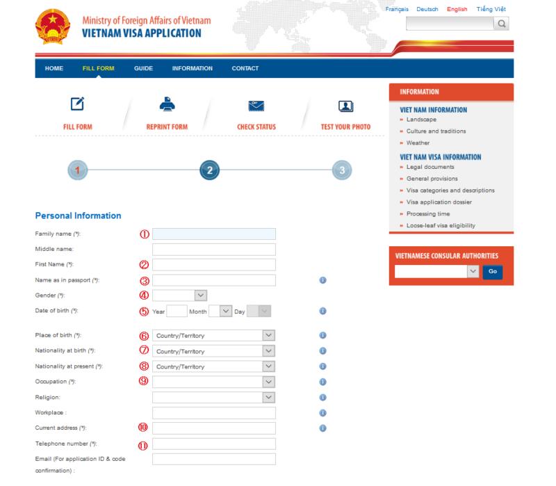 ベトナムビザオンライン申請方法