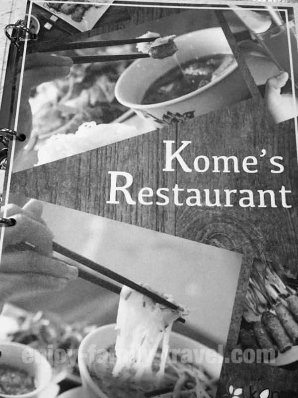 ベトナム・ダナン・人気レストラン・Kome's Restaurant メニュー
