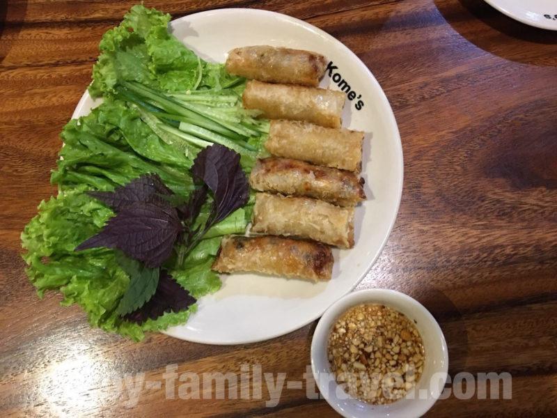 ベトナム・ダナン・人気レストラン・Kome's Restaurant揚げ春巻き